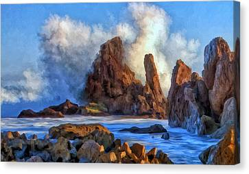 Canvas Print featuring the painting Little Corona by Michael Pickett