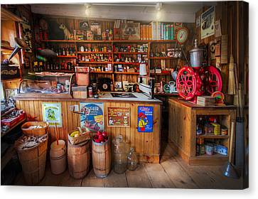 Little Country Grocery  Canvas Print by Debra and Dave Vanderlaan