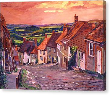 Little Country Village England Canvas Print by David Lloyd Glover
