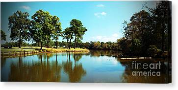 Canvas Print featuring the photograph Little Creek by Angela DeFrias