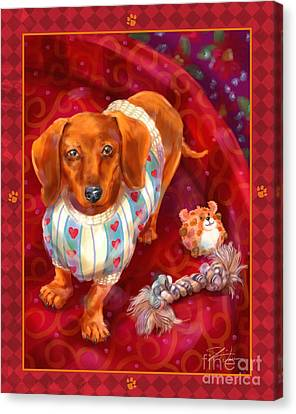Little Dogs - Dachshund Canvas Print