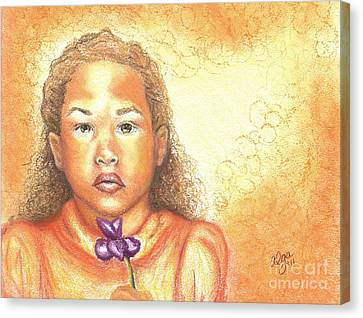 Canvas Print featuring the mixed media Little Doll by Alga Washington