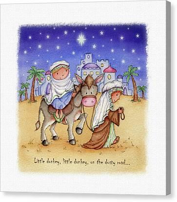 Little Donkey Canvas Print by P.s. Art Studios