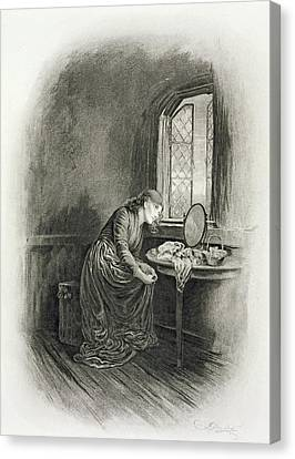 Little Dorrit, From Charles Dickens A Canvas Print by Frederick Barnard