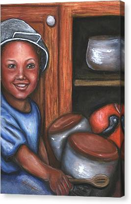 Canvas Print featuring the mixed media Little Drummer Boy by Alga Washington
