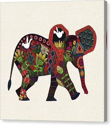Little Elephant Canvas Print by Sharon Turner