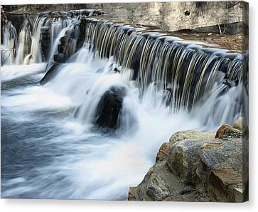 Canvas Print featuring the photograph Little Falls by Raymond Earley