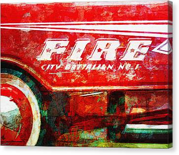 Little Fire Chief Canvas Print by David Kuhn