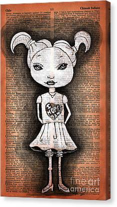 Little Girl Dancer Canvas Print by Tammy Hennessy