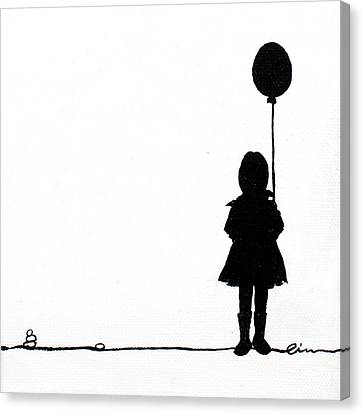 Little Girls On Little Canvas  Canvas Print by Cindy D Chinn