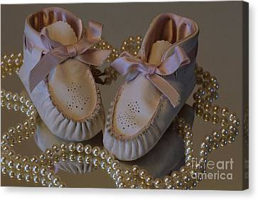 Little Girls To Pearls Canvas Print by Sharon Elliott