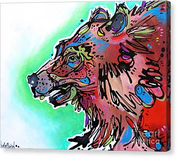 Canvas Print featuring the painting Little Griz by Nicole Gaitan