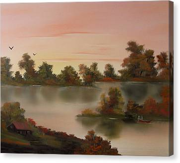 Little Haven At Sunset Canvas Print by Cynthia Adams