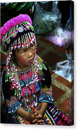 Little Hill Tribe Girl Canvas Print