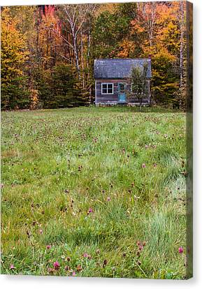 Little House At Woodlands Edge In New Hampshire Canvas Print by Karen Stephenson