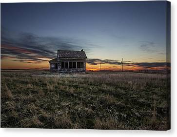Little House On The Prairie Canvas Print by Aaron J Groen