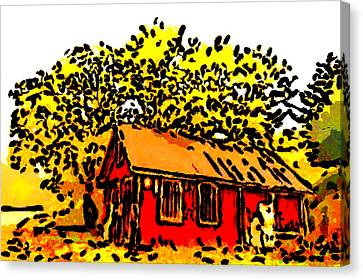 Little House On The Prairie Canvas Print by Bruce Nutting