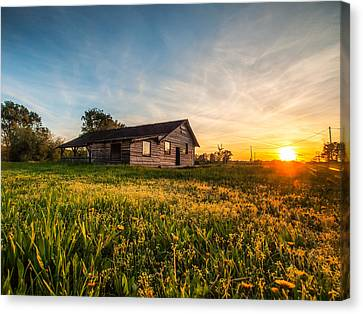 Little House On The Prairie Canvas Print by Davorin Mance