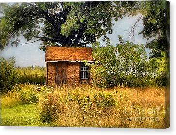 Canvas Print featuring the photograph Little House On The Prairie by Peggy Franz