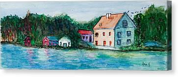 Little Houses  Canvas Print by Anais DelaVega