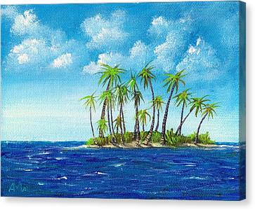 Little Island Canvas Print by Anastasiya Malakhova
