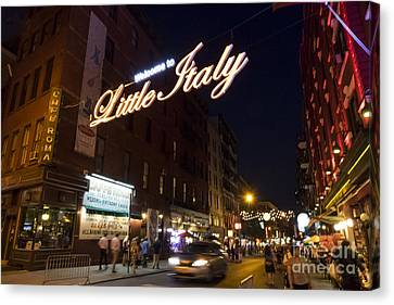 Little Italy Sign Canvas Print by Ed Rooney