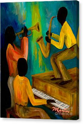 Trio Canvas Print - Little Jazz Trio I by Larry Martin