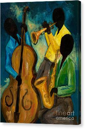 Trio Canvas Print - Little Jazz Trio IIi by Larry Martin