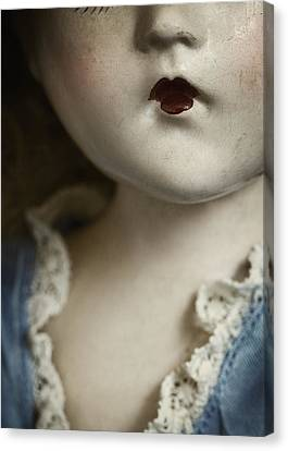Creepy Canvas Print - Little Lady  by Amy Weiss