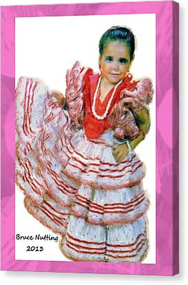 Canvas Print featuring the painting Little Lidia by Bruce Nutting