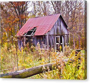 Little Lost Barn Canvas Print