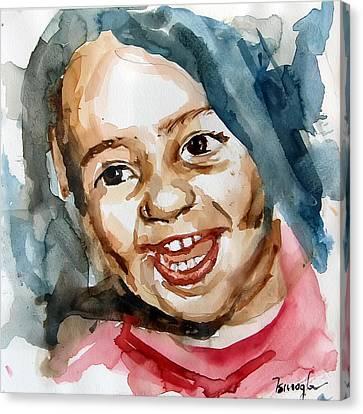 Little Maria Canvas Print by Michael Tsinoglou