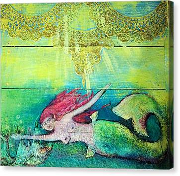 Little Mermaid  Canvas Print by Michaela Kraemer