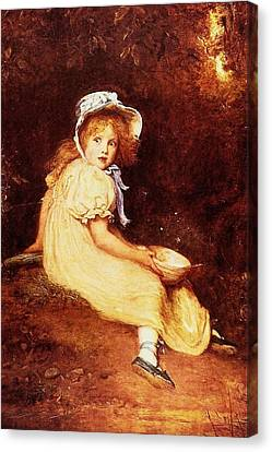 Little Miss Muffet Canvas Print - Little Miss Muffet by MotionAge Designs