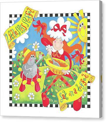 Little Miss Muffet Canvas Print by P.s. Art Studios