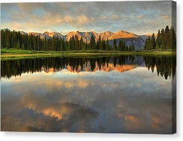 Little Molas Lake At Sunset Canvas Print