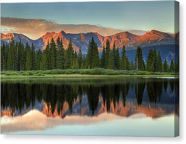 Little Molas Lake Sunset 2 Canvas Print