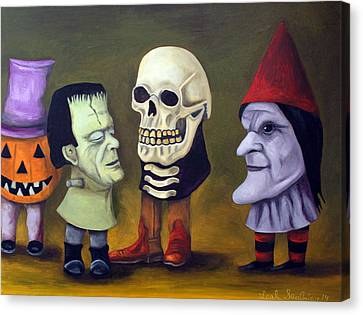 Little Monsters Edit 2 Canvas Print by Leah Saulnier The Painting Maniac