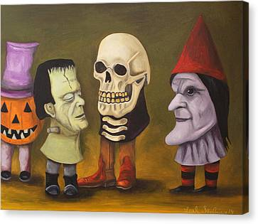 Little Monsters Canvas Print by Leah Saulnier The Painting Maniac