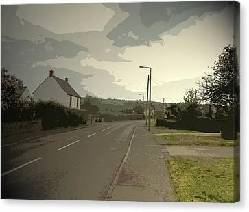 Little Morton Road In North Wingfield, Heading Canvas Print
