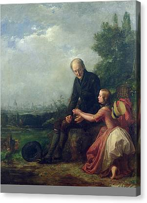 Little Nell And Her Grandfather Canvas Print