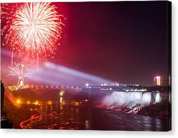 Little Niagara Falls Fireworks Canvas Print by James Wheeler