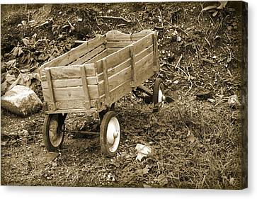 Little Old Wagon Canvas Print