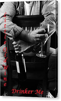 Little Old Wine Drinker Me Canvas Print