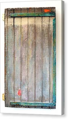 Little Painted Gate In Summer Colors  Canvas Print by Asha Carolyn Young