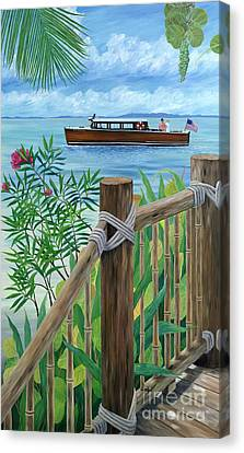 Little Palm Island Canvas Print by Danielle  Perry