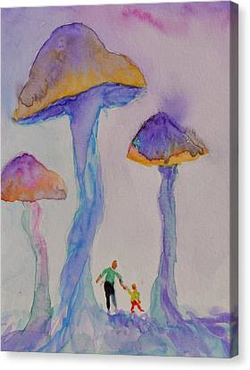 Little People Canvas Print by Beverley Harper Tinsley