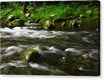Canvas Print featuring the photograph Little Piegon River Gatlinburg Tennessee by Jerome Lynch