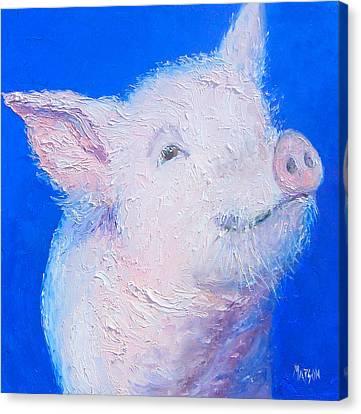 Little Piglet Canvas Print by Jan Matson