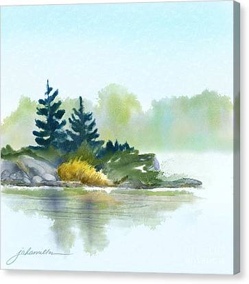 Little Pine Point Canvas Print by Joan A Hamilton